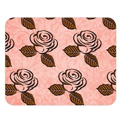 Chocolate Background Floral Pattern Double Sided Flano Blanket (large)  by Nexatart