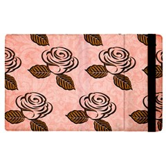 Chocolate Background Floral Pattern Apple Ipad Pro 12 9   Flip Case by Nexatart