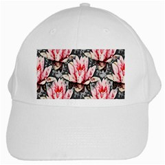 Water Lily Background Pattern White Cap by Nexatart