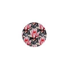 Water Lily Background Pattern 1  Mini Magnets