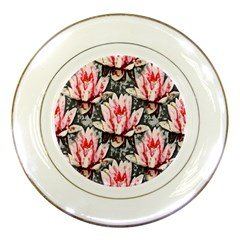 Water Lily Background Pattern Porcelain Plates by Nexatart