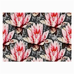 Water Lily Background Pattern Large Glasses Cloth