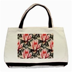 Water Lily Background Pattern Basic Tote Bag (two Sides)