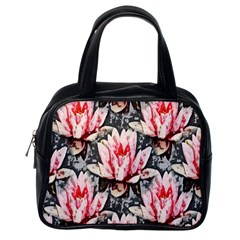 Water Lily Background Pattern Classic Handbags (one Side) by Nexatart