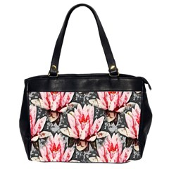 Water Lily Background Pattern Office Handbags (2 Sides)