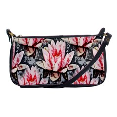 Water Lily Background Pattern Shoulder Clutch Bags