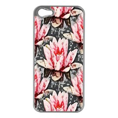 Water Lily Background Pattern Apple Iphone 5 Case (silver)