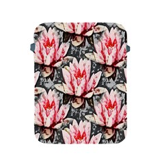 Water Lily Background Pattern Apple Ipad 2/3/4 Protective Soft Cases by Nexatart