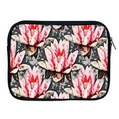 Water Lily Background Pattern Apple Ipad 2/3/4 Zipper Cases by Nexatart