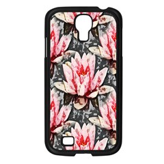 Water Lily Background Pattern Samsung Galaxy S4 I9500/ I9505 Case (black)