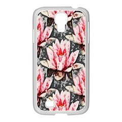Water Lily Background Pattern Samsung Galaxy S4 I9500/ I9505 Case (white)