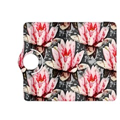 Water Lily Background Pattern Kindle Fire Hdx 8 9  Flip 360 Case