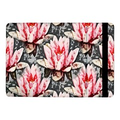 Water Lily Background Pattern Samsung Galaxy Tab Pro 10 1  Flip Case