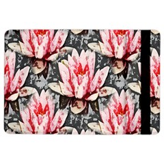 Water Lily Background Pattern Ipad Air 2 Flip