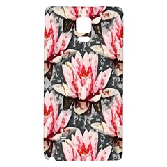 Water Lily Background Pattern Galaxy Note 4 Back Case