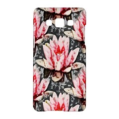 Water Lily Background Pattern Samsung Galaxy A5 Hardshell Case  by Nexatart