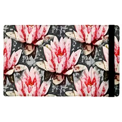 Water Lily Background Pattern Apple Ipad Pro 12 9   Flip Case by Nexatart