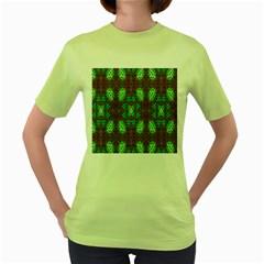 Art Design Template Decoration Women s Green T Shirt