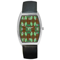 Art Design Template Decoration Barrel Style Metal Watch by Nexatart