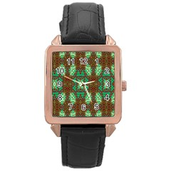 Art Design Template Decoration Rose Gold Leather Watch  by Nexatart