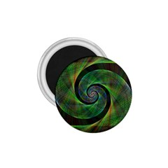Green Spiral Fractal Wired 1 75  Magnets