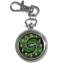 Green Spiral Fractal Wired Key Chain Watches