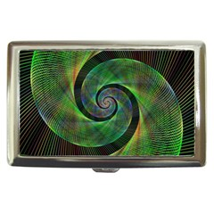 Green Spiral Fractal Wired Cigarette Money Cases