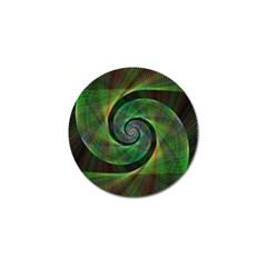 Green Spiral Fractal Wired Golf Ball Marker (10 Pack) by Nexatart