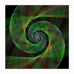 Green Spiral Fractal Wired Medium Glasses Cloth (2 Side)