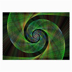 Green Spiral Fractal Wired Large Glasses Cloth by Nexatart