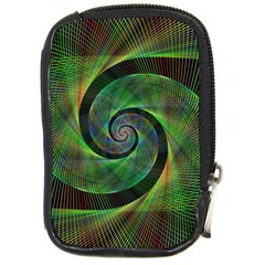 Green Spiral Fractal Wired Compact Camera Cases