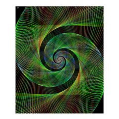 Green Spiral Fractal Wired Shower Curtain 60  X 72  (medium)  by Nexatart