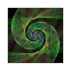 Green Spiral Fractal Wired Acrylic Tangram Puzzle (6  X 6 )