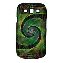 Green Spiral Fractal Wired Samsung Galaxy S Iii Classic Hardshell Case (pc+silicone)
