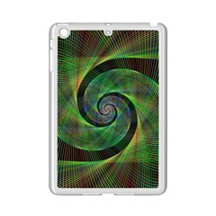 Green Spiral Fractal Wired Ipad Mini 2 Enamel Coated Cases