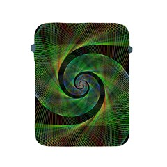 Green Spiral Fractal Wired Apple Ipad 2/3/4 Protective Soft Cases