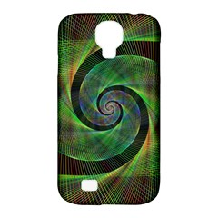 Green Spiral Fractal Wired Samsung Galaxy S4 Classic Hardshell Case (pc+silicone)
