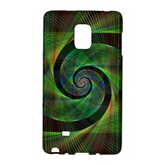 Green Spiral Fractal Wired Galaxy Note Edge
