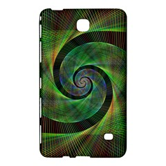 Green Spiral Fractal Wired Samsung Galaxy Tab 4 (7 ) Hardshell Case  by Nexatart