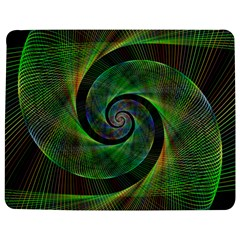 Green Spiral Fractal Wired Jigsaw Puzzle Photo Stand (rectangular)
