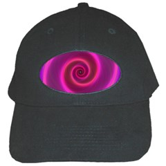 Pink Background Neon Neon Light Black Cap