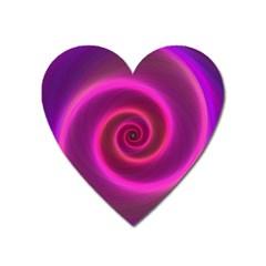 Pink Background Neon Neon Light Heart Magnet by Nexatart