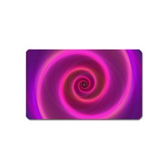 Pink Background Neon Neon Light Magnet (name Card)
