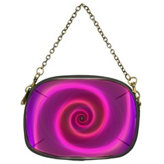 Pink Background Neon Neon Light Chain Purses (two Sides)  by Nexatart