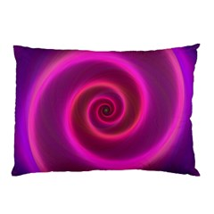 Pink Background Neon Neon Light Pillow Case (two Sides) by Nexatart
