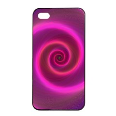 Pink Background Neon Neon Light Apple Iphone 4/4s Seamless Case (black) by Nexatart