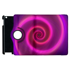 Pink Background Neon Neon Light Apple Ipad 3/4 Flip 360 Case by Nexatart