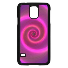 Pink Background Neon Neon Light Samsung Galaxy S5 Case (black)