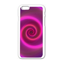 Pink Background Neon Neon Light Apple Iphone 6/6s White Enamel Case by Nexatart