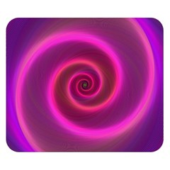 Pink Background Neon Neon Light Double Sided Flano Blanket (small)